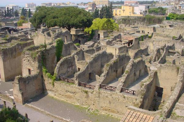 Overview of the ruins at Herculaneum | Pompei and Herculaneum | Italy