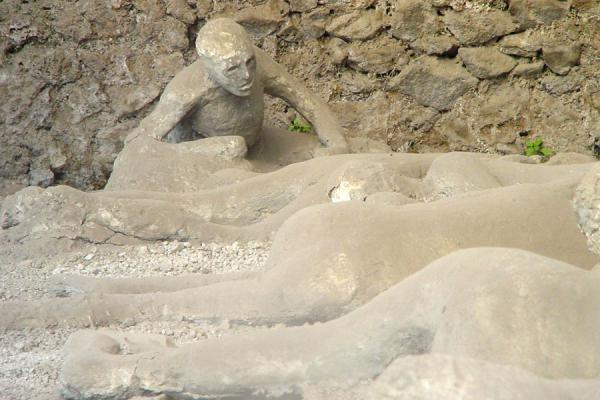 Some of the victims of the eruption at Pompei | Pompei and Herculaneum | Italy
