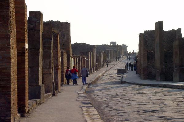 Picture of Pompei and Herculaneum (Italy): Main street of Pompei