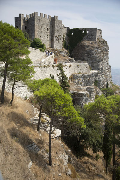 Foto van View of the Castello di Venere on the east side of EriceErice - Italië