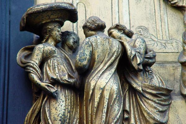 Detail of the Doors of Paradise by Ghiberti | Florence Cathedral | Italy