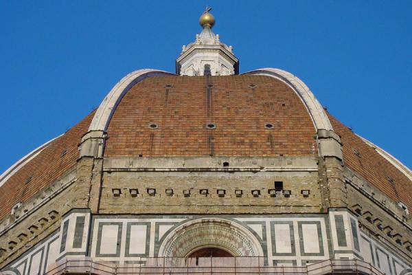 The Dome from below; it is clearly visible how steep it is | Florence Cathedral | Italy