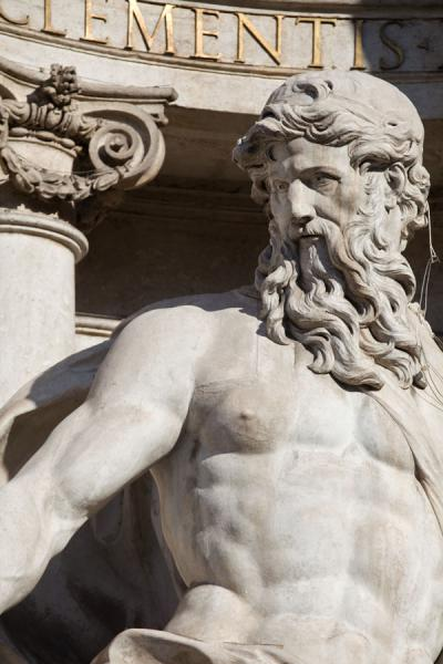 Detail of Oceanus at the Trevi Fountain | Trevi fountain | Italy
