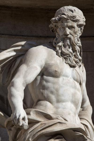 Close-up of Oceanus, the centrepiece of the Trevi Fountain | Trevi fountain | Italy