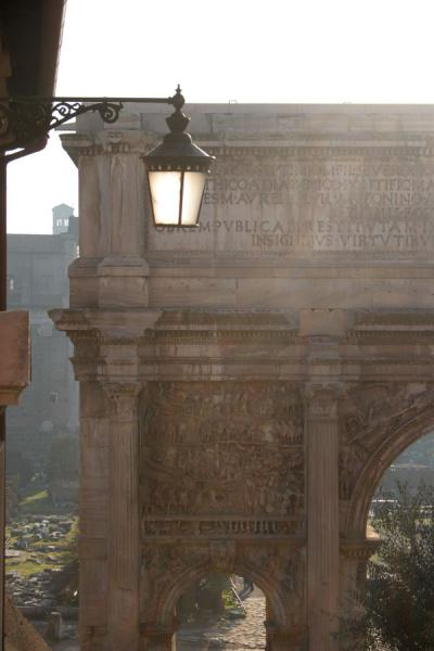 Picture of Arch of Septimus Severus and lantern on Forum Romanum