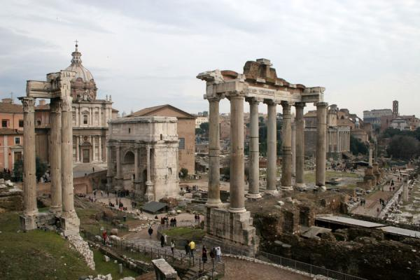 Temple of Saturn, arch of Septimus Severus, and many other sights | Forum Romanum | Italy