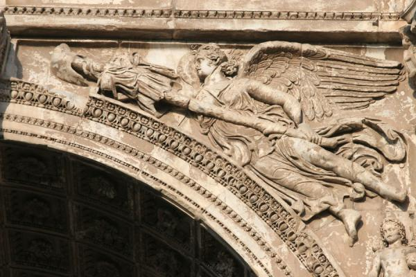 Picture of Detail of Arch of Septimus Severus on the Forum Romanum