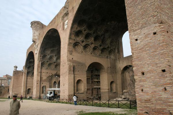 Some of the remaining arches of the Basilica Maxentius | Forum Romanum | Italy