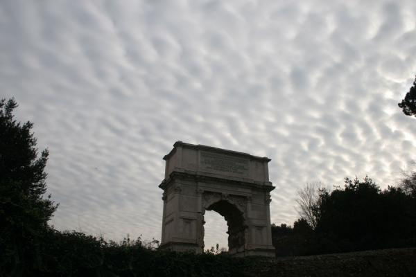 Arch of Titus under a cloudy sky | Forum Romanum | Italy