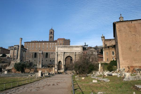 Via Sacra, Arch of Septimus, and several more remains of buildings and monuments | Forum Romanum | Italy