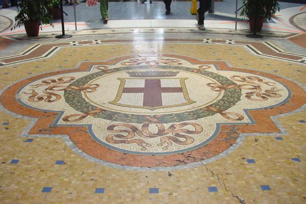 Picture of Floor in Vittorio Emmanuele gallery, Milan