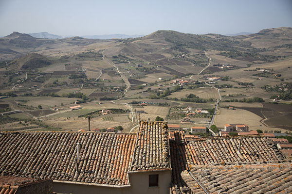 Looking towards the mountain in the west from Gangi | Gangi | Italy