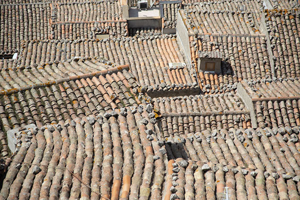 Looking down at the roofs of Gangi - 意大利