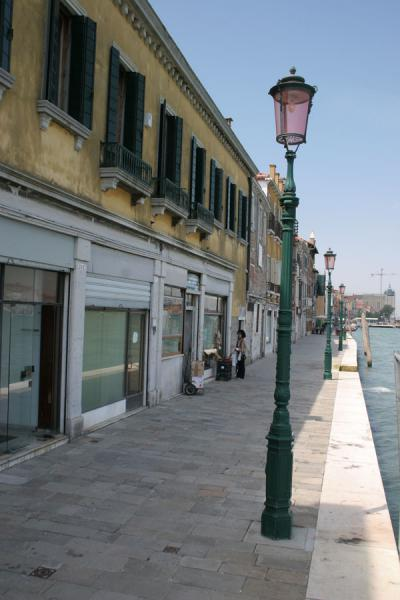 Lantern with boulevard: village like feel in Giudecca | Giudecca | Italy