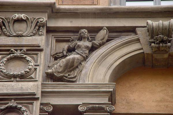 Picture of Detail of sculpture in Milan