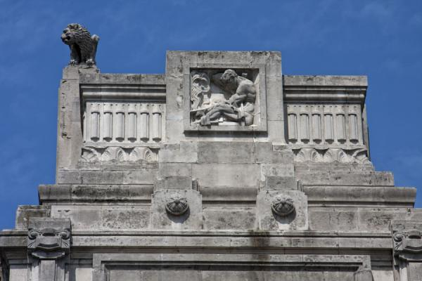Picture of Upper part of Milano Centrale station from the outside