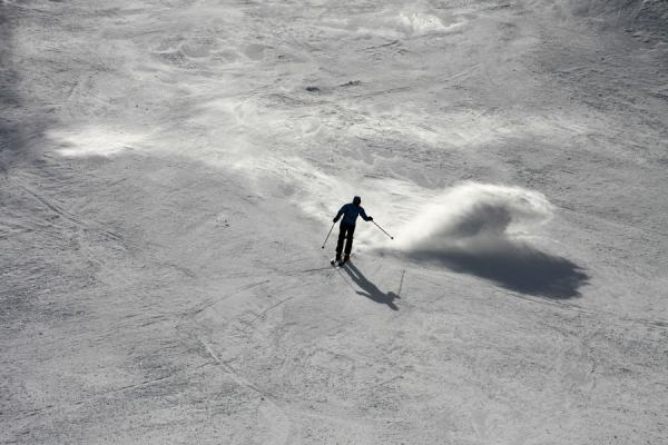 Coming down a black slope | Monte Rosa skiing | Italy