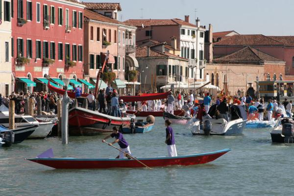 Picture of New gondola being inaugurated in Murano