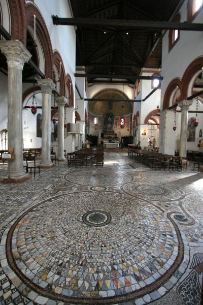 Interior of Santa Maria e San Donato church with famous mosaics | Murano | Italy