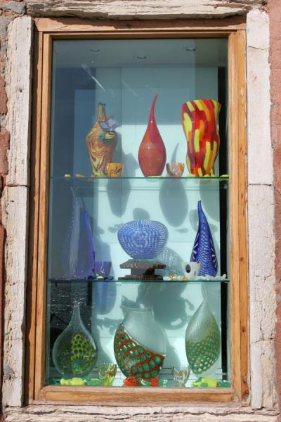 Picture of Window of glass shop in Murano