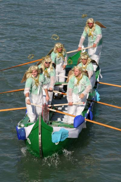 Participants in yearly regatta of Murano | Murano | Italy
