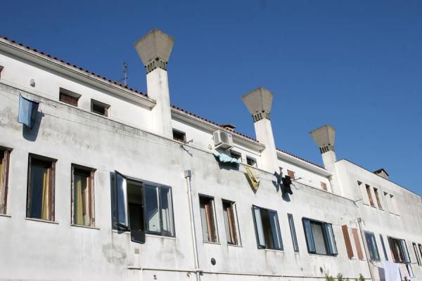 Typical chimneys can also be found on new houses in Venice | Murano | Italy