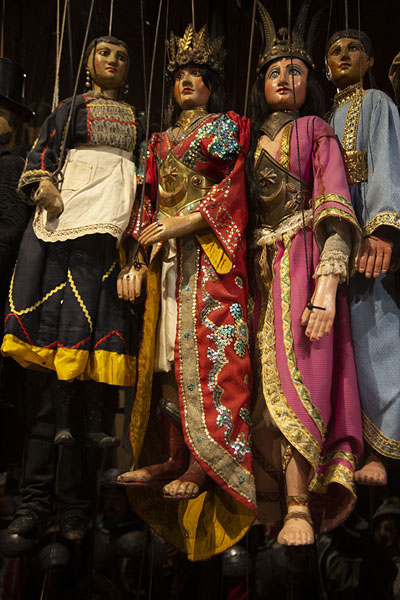 Collection of marionettes in the museum | Marionette Museum | Italy