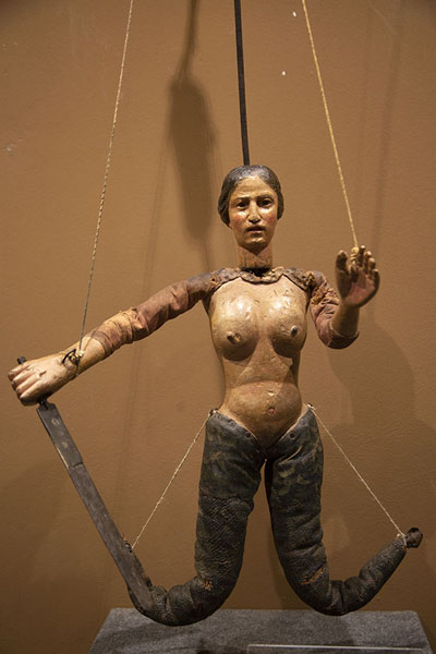 Mermaid marionette in the museum | Marionette Museum | Italy