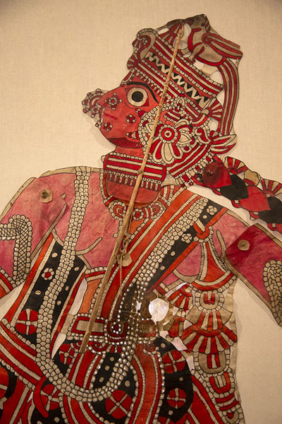 Indonesian marionette on display in the museum | Marionettenmuseum | Italië