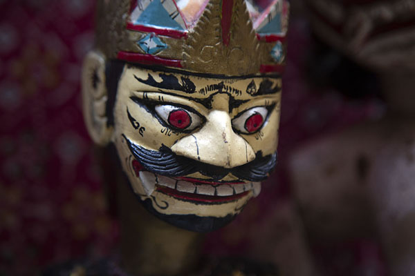 Close-up of an Indonesian puppet | Marionette Museum | Italy