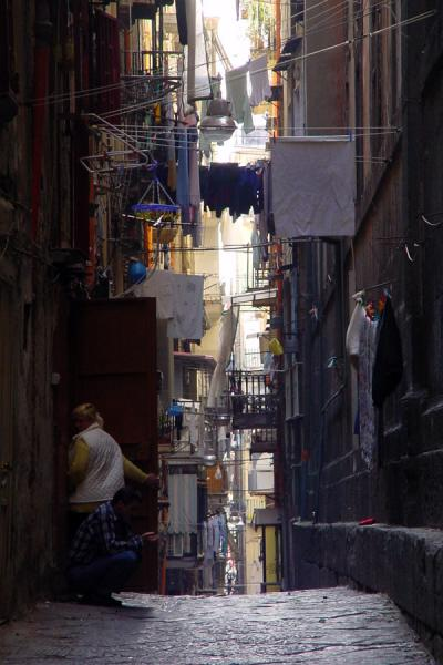 One of the many narrow alleys | Naples Streets | Italy