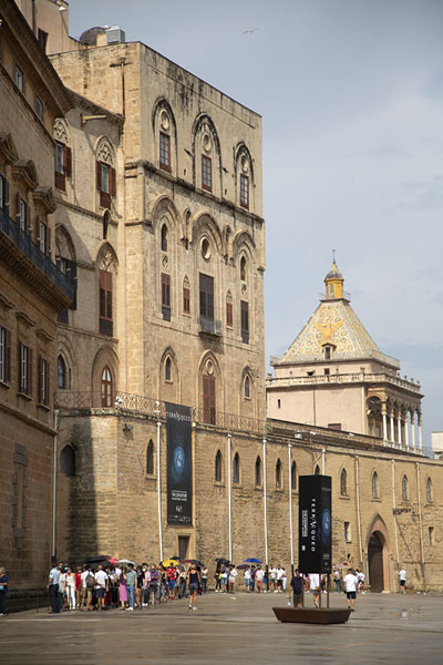 Picture of Side view of the Palazzo dei NormanniPalermo - Italy