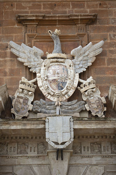 Picture of The coat of arms of the royals on the wall of the Palazzo dei Normanni - Italy - Europe