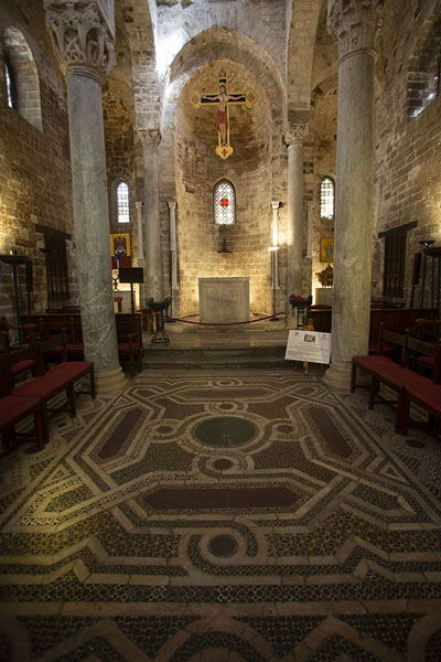 Mosaics in the floor of San Cataldo church | Palermo churches | Italy