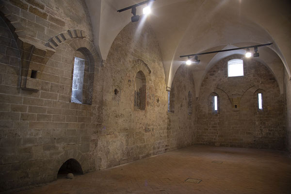 Foto van Interior of the room which once housed a mosque in the Church of San Giovanni degli EremitiPalermo - Italië