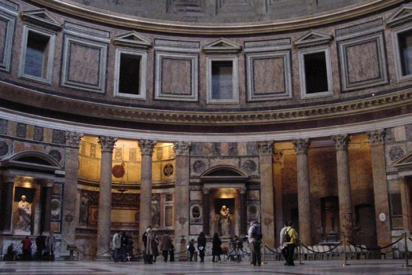 Two of the graves inside the Pantheon, the one of Raphael right in the middle | Pantheon | Italy