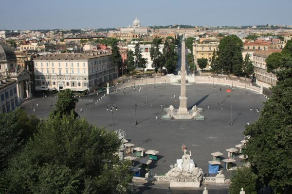 Picture of Piazza del Popolo (Italy): Piazza del Popolo with obelisk and the Vatican in a distance