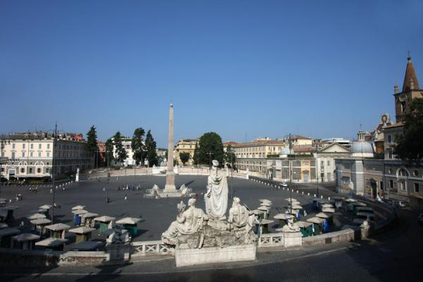 View over the Piazza del Popolo from the lower Pincio | Piazza del Popolo | Italy