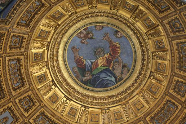 Picture of Piazza del Popolo (Italy): Looking at heaven in a chapel in the Santa Maria del Popolo church