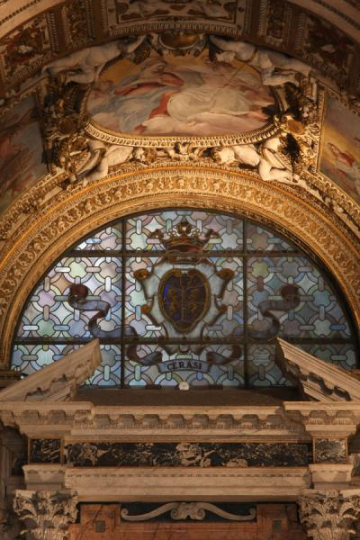Picture of Piazza del Popolo (Italy): Cerasi chapel in the Santa Maria del Popolo with works of Caravaggio