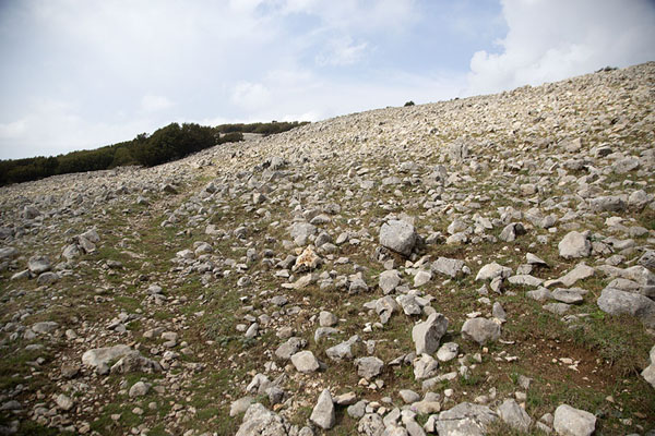 Loose rocks on the slopes of Pizzo Carbonara - 意大利