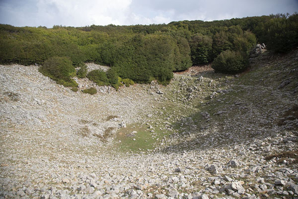 Natural amphitheatre near the summit of Pizzo Carbonara - 意大利