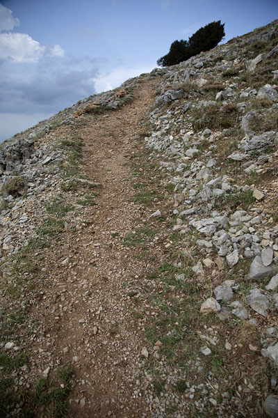 Photo de The trail leading up to Pizzo CarbonaraPizzo Carbonara - l'Italie