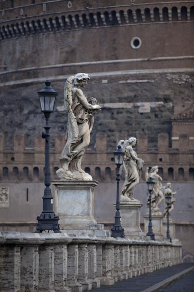 Picture of Statues lined up on the Ponte San't Angelo