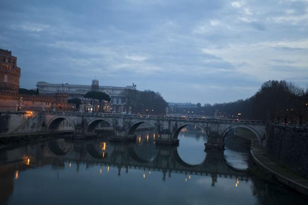 View of the Ponte Sant'Angelo from the Ponte Vittorio Emanuele II bridge | Ponte Sant'Angelo | Italy