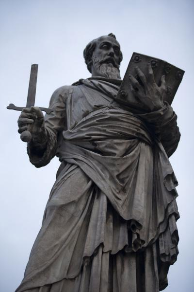 Picture of Detail of statue of St. Paul on the Ponte Sant'Angelo