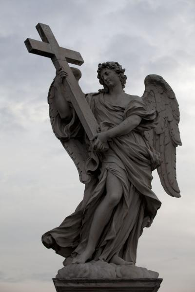 Statue of angel carrying a cross on the Ponte Sant'Angelo | Ponte Sant'Angelo | Italy