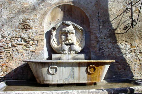 Picture of Fountains in Rome (Italy): Santa Sabina church, fountain, Rome