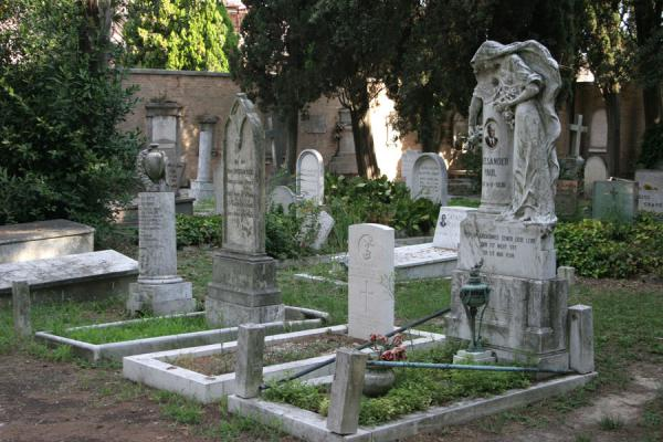 Part of the evangelic cemetery at San Michele cemetery | San Michele Cemetery | Italy