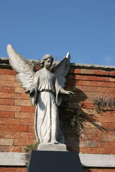 Picture of San Michele Cemetery (Italy): San Michele cemetery: angel guarding the dead